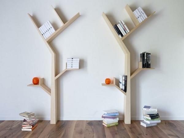 étagère-murale-design-arbres-en-bois-clair