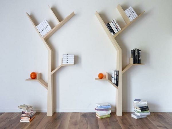 etagere murale arbre