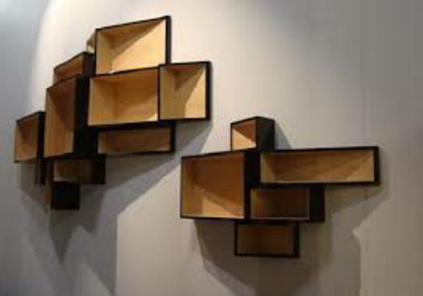 etagere murale bois design