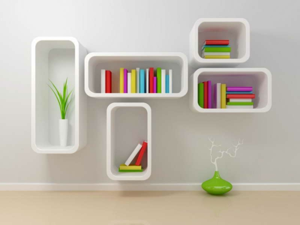 étagère-murale-design-casiers-blancs