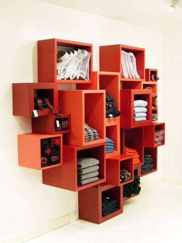 étagère-murale-design-casiers-rouges