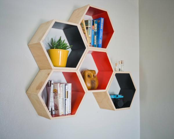 étagère-murale-design-cellules-d'abeilles