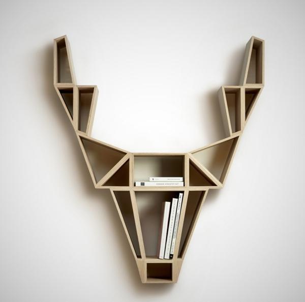 étagère-murale-design-cerf-géométrique