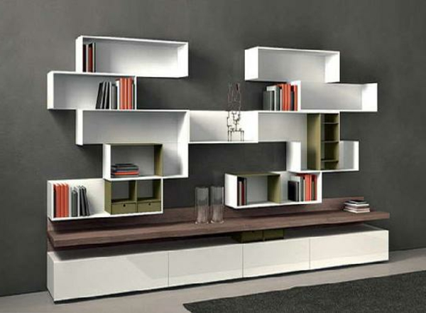 l 39 tag re murale design 82 id es originales. Black Bedroom Furniture Sets. Home Design Ideas