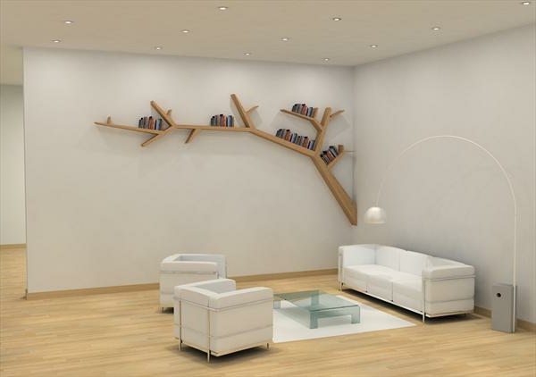 L 39 tag re murale design 82 id es originales - Decoration branche arbre ...