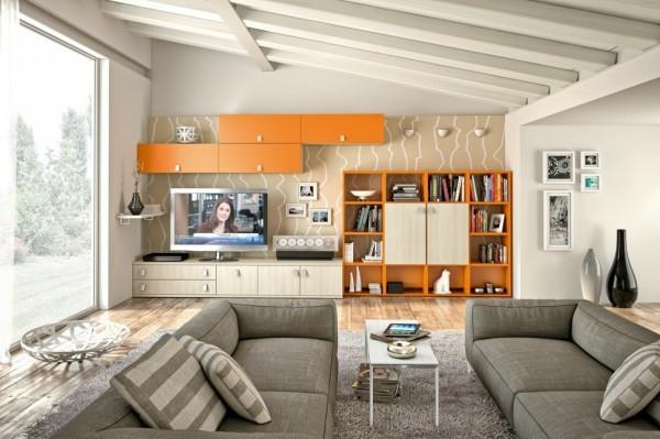 étagère-murale-design-rangement-créatif-de-salle-de-séjour
