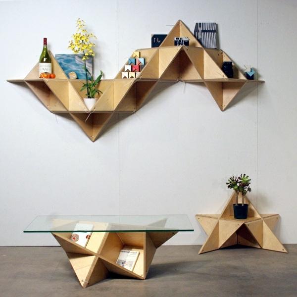 étagère-murale-design-relief-géométrique
