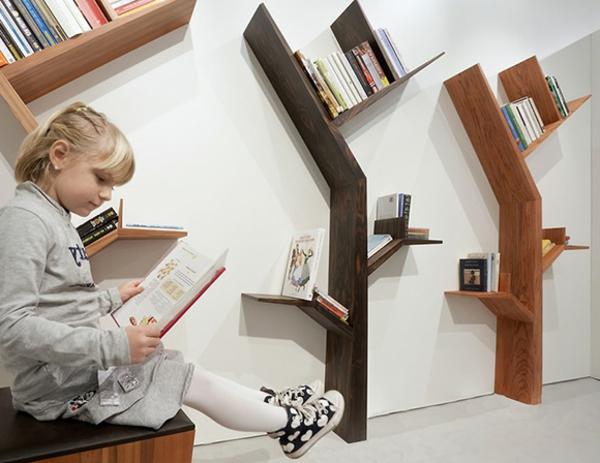 étagère-murale-design-trois-arbres-en-bois