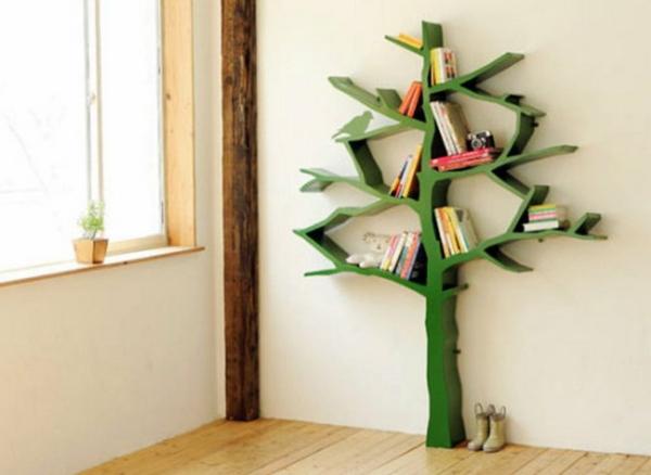 étagère-murale-design-un-arbre-vert