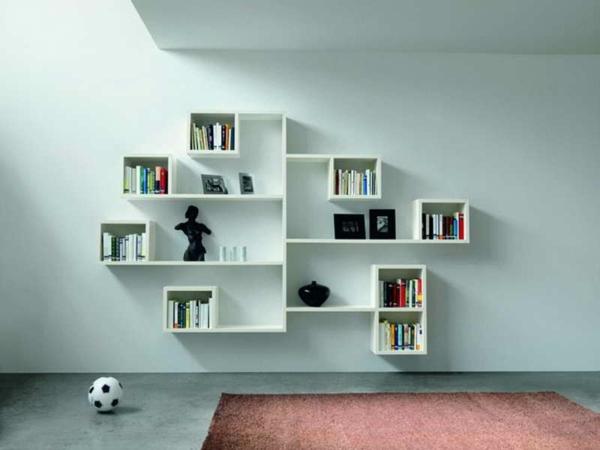 étagère-murale-design-unités-blanches
