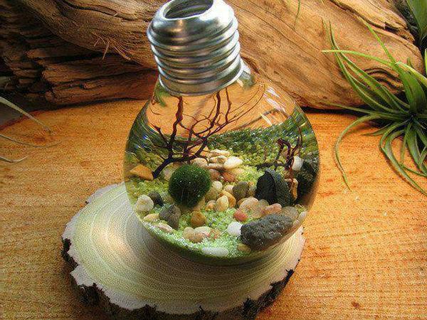 ampoule-décorative-vase avec des fleur