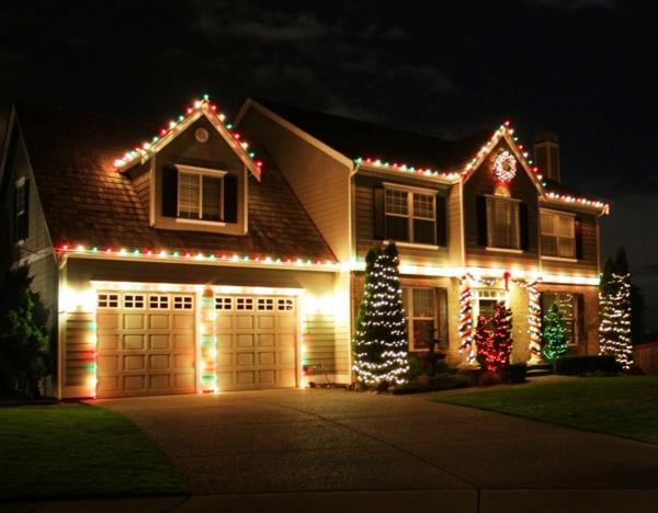 classique,déco,de,Noël,de,lextérieur