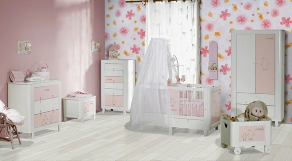 modele de chambre bebe fille id e inspirante pour la conception de la maison. Black Bedroom Furniture Sets. Home Design Ideas