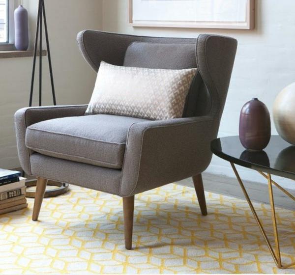 Fauteuil-esprit-vintage-en-gris-et-décoration-moderne