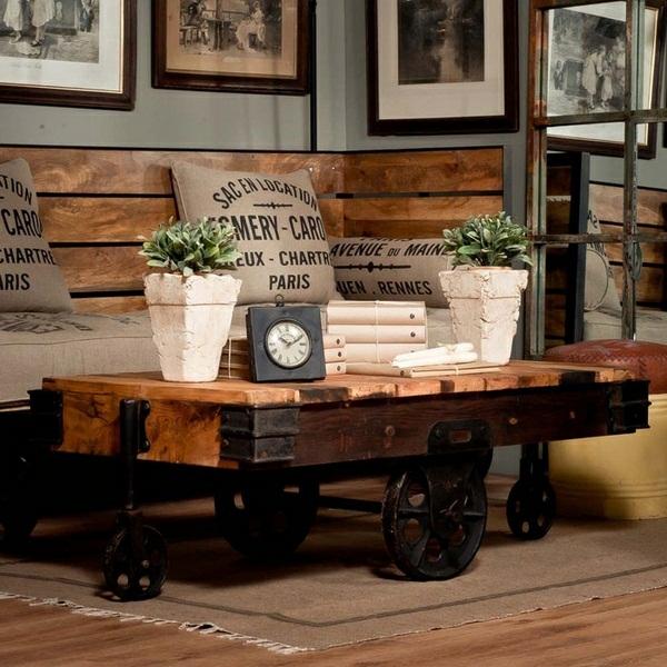 table-basse-industrielle-coussins-originaux