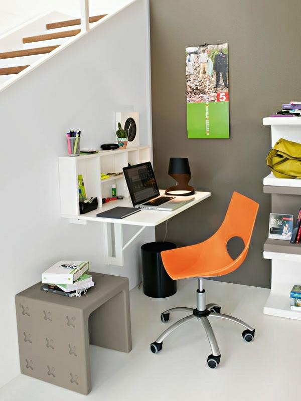 burеau-escamotable-chaise-orange