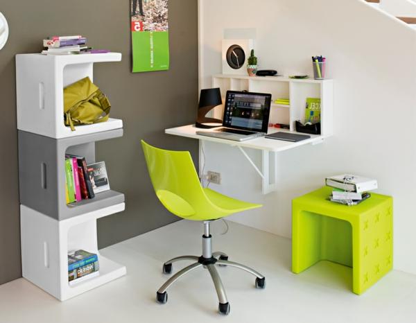 Le bureau escamotable d cisions pour les petits espaces for Petit bureau chambre ado