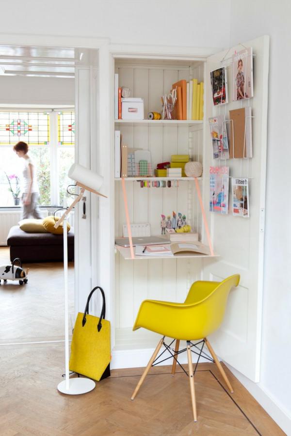 Le bureau escamotable d cisions pour les petits espaces for Bureau dans un placard