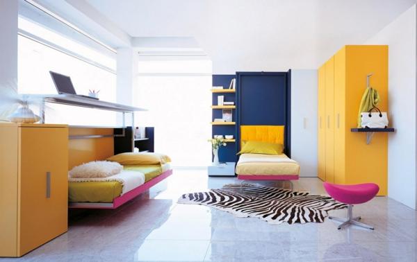 bureau-escamotable-rose-sous-un-lit-escamotable