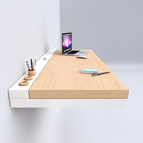 Designs uniques de bureau suspendu for Bureau meuble moderne