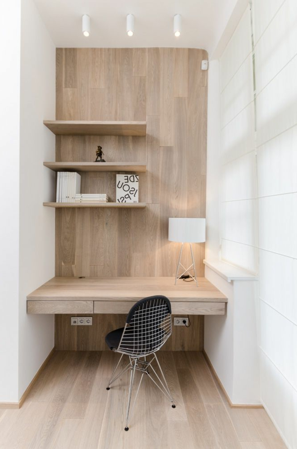 Designs uniques de bureau suspendu - Bureau bois design contemporain ...