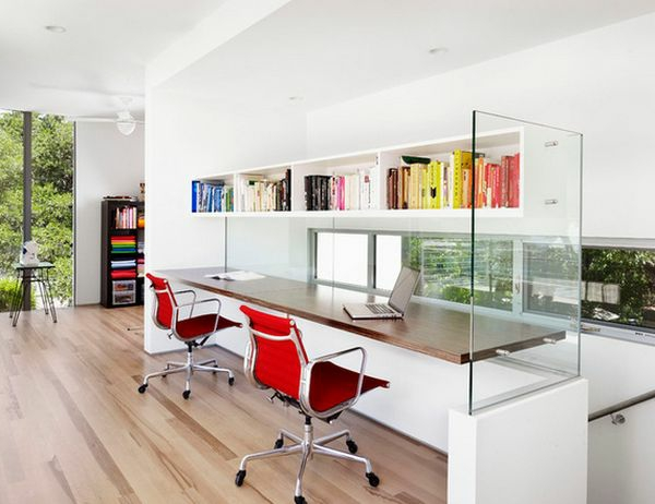 Designs uniques de bureau suspendu - Bureau verre design contemporain ...