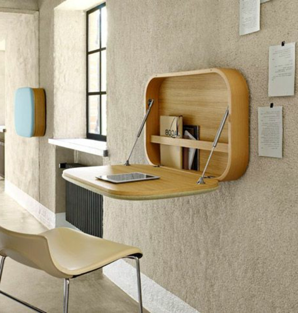 Designs uniques de bureau suspendu - Table murale rabattable leroy merlin ...