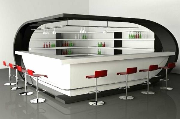 chaise-de-bar-rouge-bar-futuristique