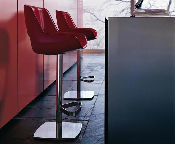 chaise-de-bar-rouge-chaises-hautes-de-bar