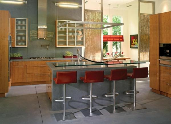 chaise-de-bar-rouge-comptoir-superficie-en-verre
