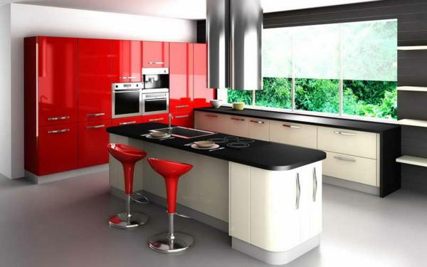 chaise-de-bar-rouge-cuisine-cosy-et-belle