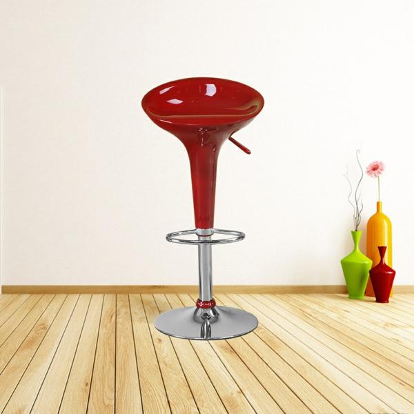 chaise-de-bar-rouge-une-chaise-rouge