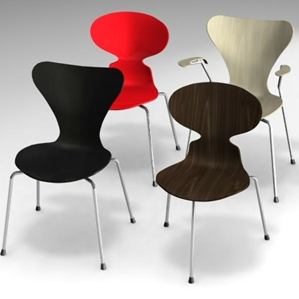 chaise-fourmi-les-chaises-d'Arne Jacobsen