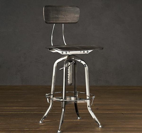 chaises-industrielles-chaise-haute-métallique