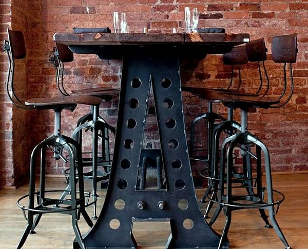 chaises-industrielles-mobilier-indutriel-en-bois-et-métal