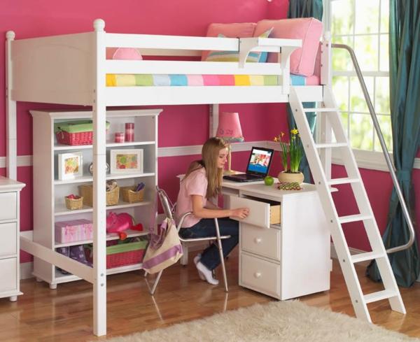 Le lit mezzanine et bureau plus d 39 espace for Chambre ado fille mezzanine