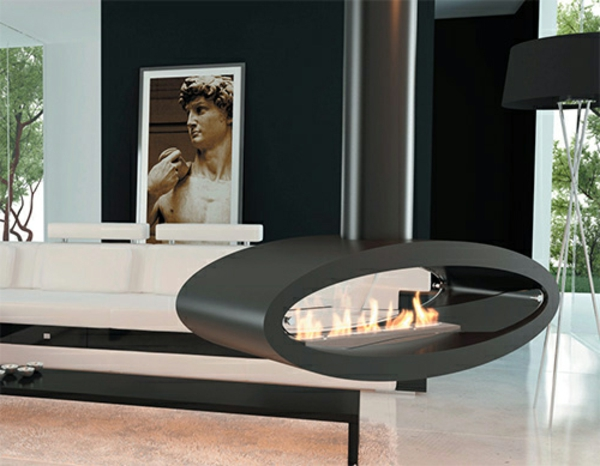 cheminee suspendue ovale. Black Bedroom Furniture Sets. Home Design Ideas