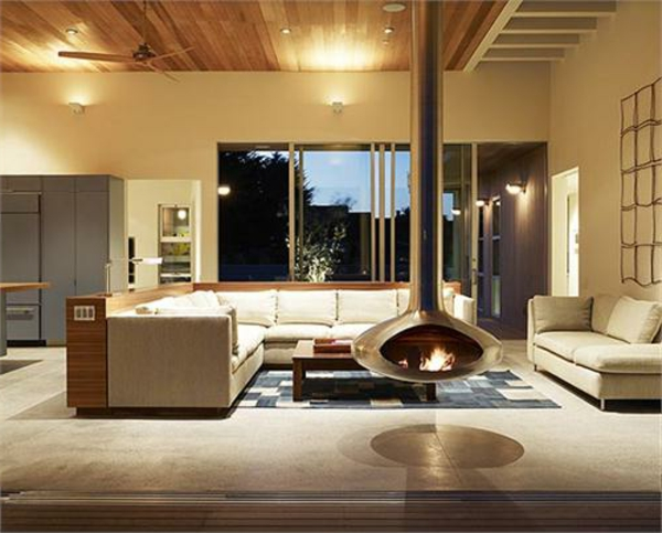 cheminée-suspendue-et-ambiance-cosy-magnifique