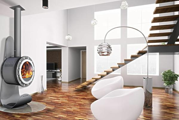La cheminée suspendue - le design spectaculaire du chauffage ...