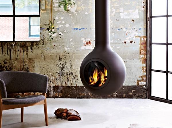 cheminée-suspendue-loft-intérieur