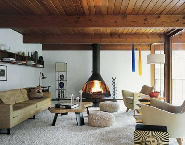 cheminée-suspendue-plancher-en-bois