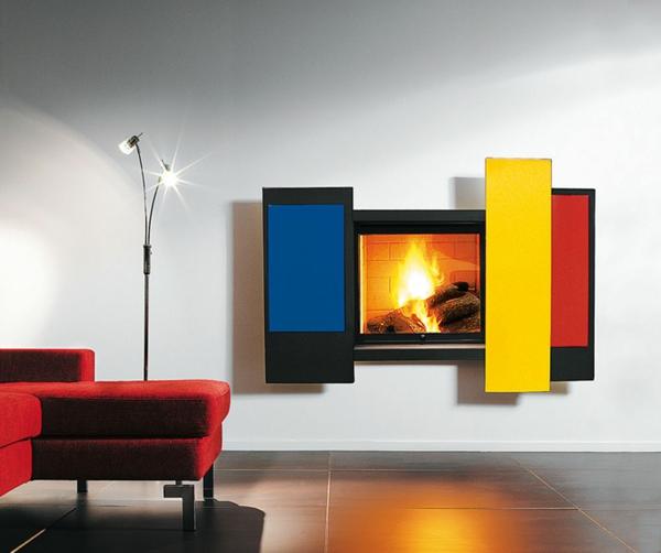 cheminée-suspendue-ultramoderne-colorée