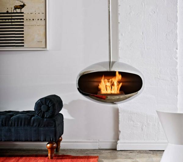 cheminée-suspendue-une-jolie-cheminée-près-d'un-divan