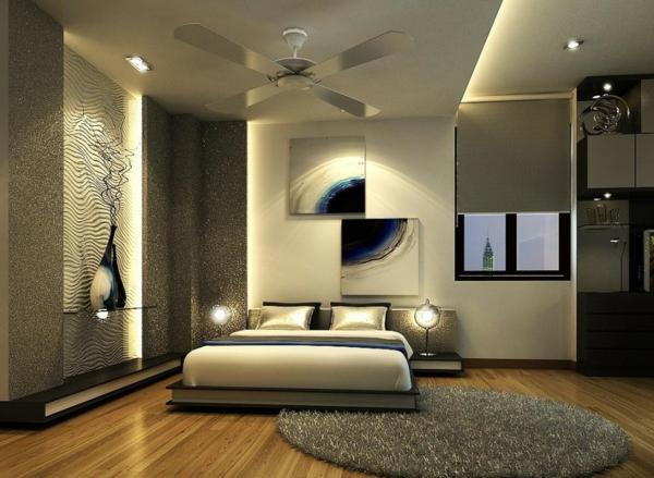 chevet-suspendu-chambre-à-coucher-glamoureuse