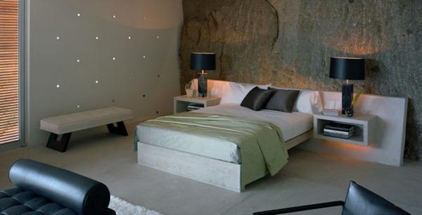 le chevet suspendu et le chevet flottant designs int ressants. Black Bedroom Furniture Sets. Home Design Ideas