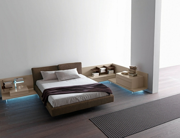 le chevet suspendu et le chevet flottant designs. Black Bedroom Furniture Sets. Home Design Ideas