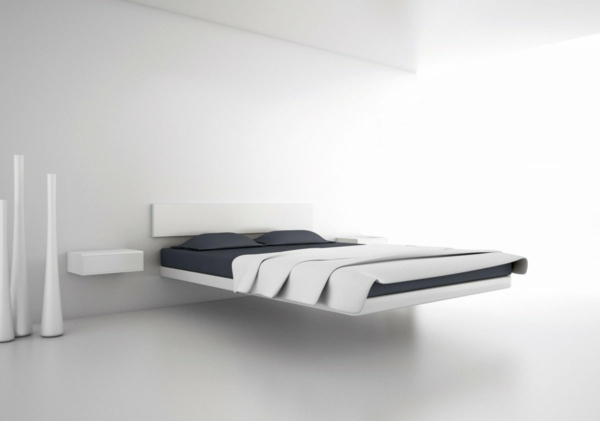 Le chevet suspendu et le chevet flottant designs for Meuble suspendu chambre