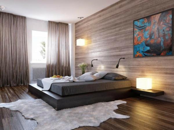 chevet-suspendu-un-lit-plateforme-ambiance-chaleureuse-peinture-artistique