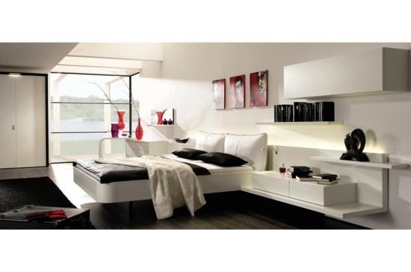 chevet-suspendu-une-table-de-chevet-suspendue-dans-une-charmante-chambre-à-coucher