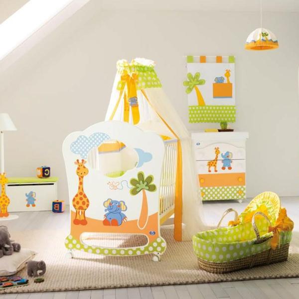 ciel-de-lit-bébé-mobilier-à-motifs-animaux